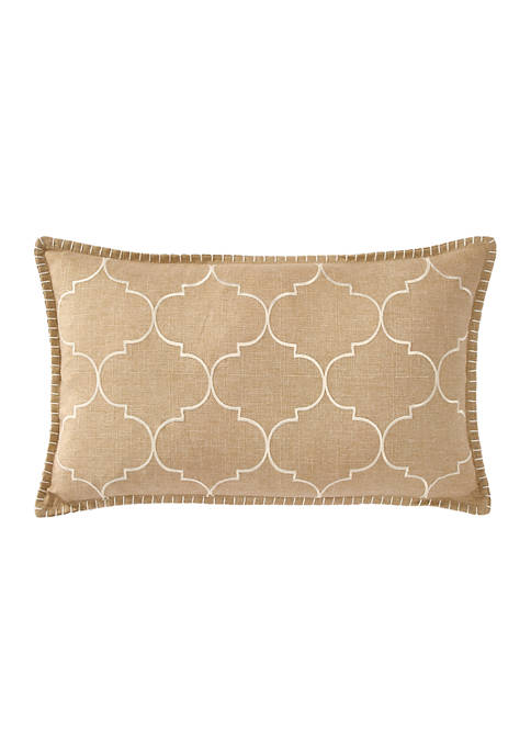 12 in x 20 in Whipstitch Embroidered Pillow