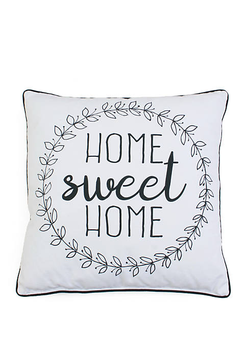 Haroley Home Sweet Home Wreath Pillow