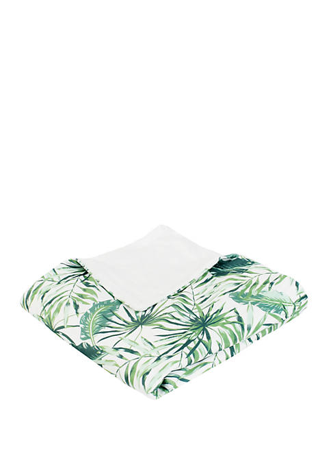 Thro by Marlo Lorenz Green Moki Leaves Printed