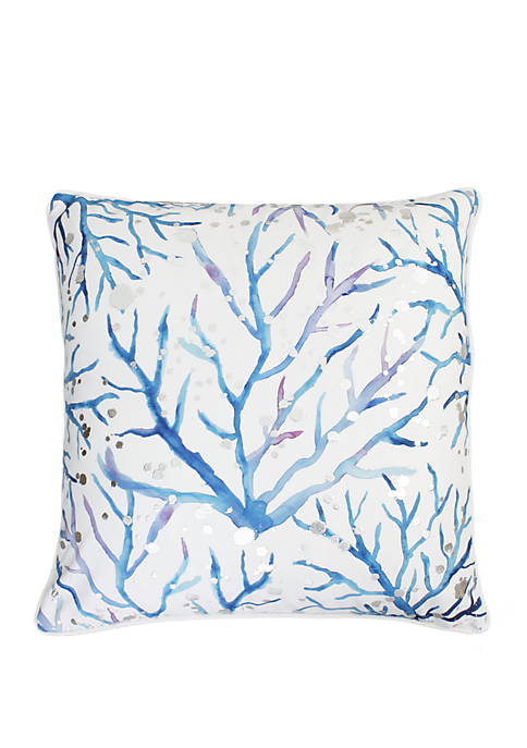 Blue and Purple Tygna Coral Pillow