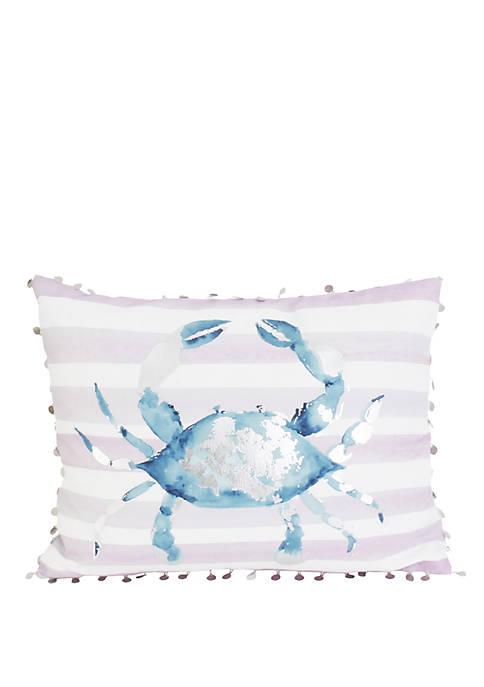 Blue and Purple Tulum Crab Pillow