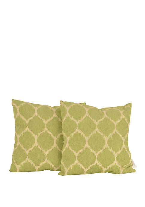 Set of 2 Ivana Ikat Throw Pillows