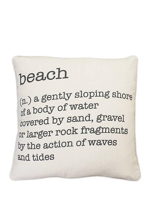 Bree Beach Definition Printed Haze Pillow