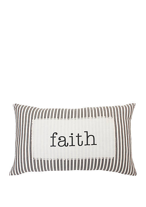 Blair Faith Ticking Stripe Pillow