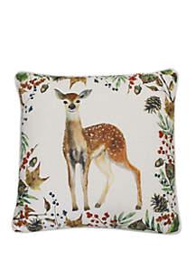 Thro by Marlo Lorenz Dahrma Deer Franco Faux Linen Pillow