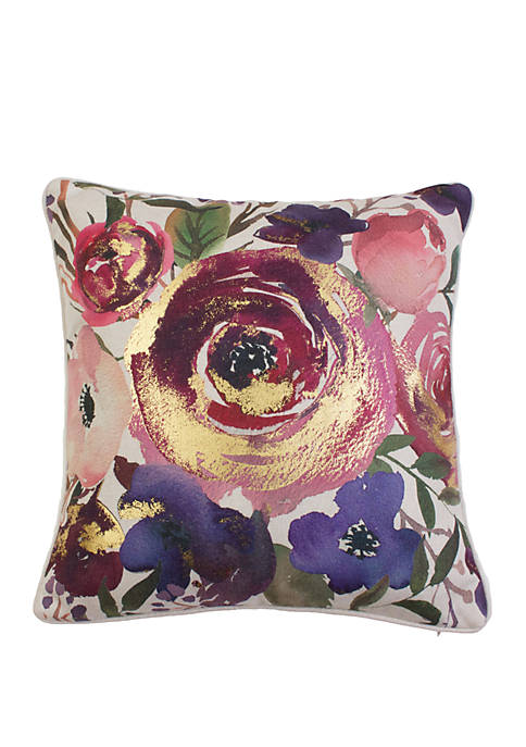 Joinelle Floral Franco Faux Linen Pillow
