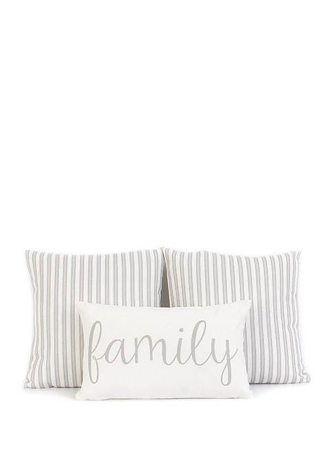 Family 3 Pack Pillow Set