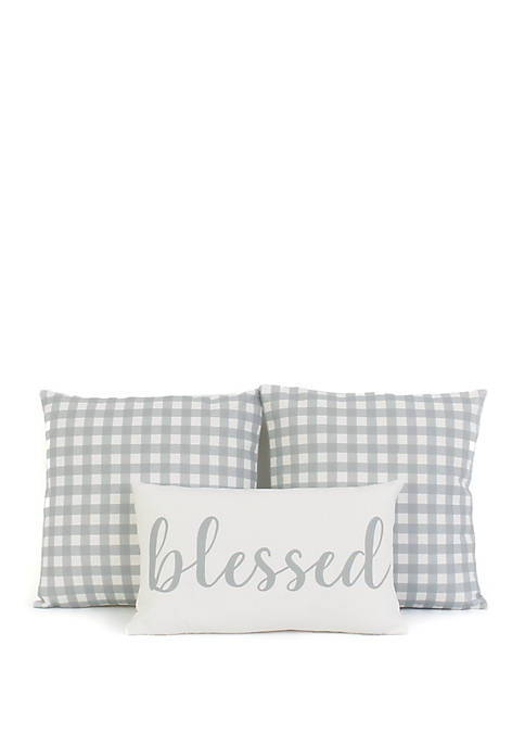 Blessed 3 Pack Pillow Set