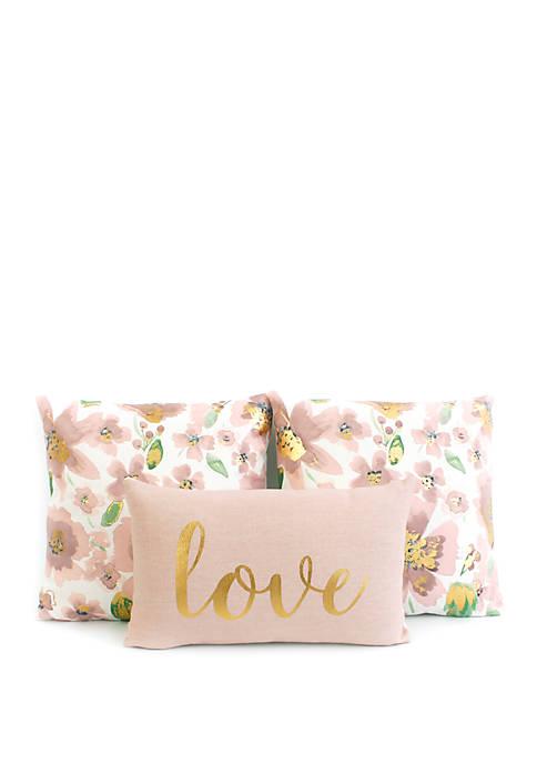 Love 3 Pack Pillow Set
