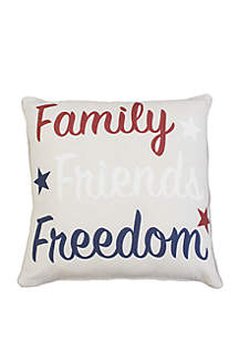 Thro by Marlo Lorenz Family Friends Freedom Throw Pillow