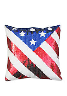 Thro by Marlo Lorenz Sequin American Flag Throw Pillow