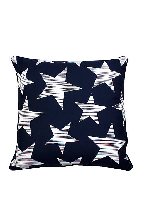 Printed Americana Star Throw Pillow Pillow