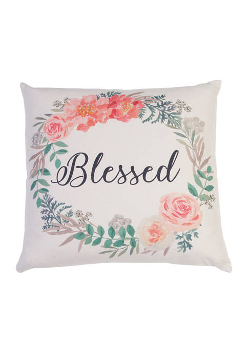 Thro by Marlo Lorenz Blessed Wreath Pillow