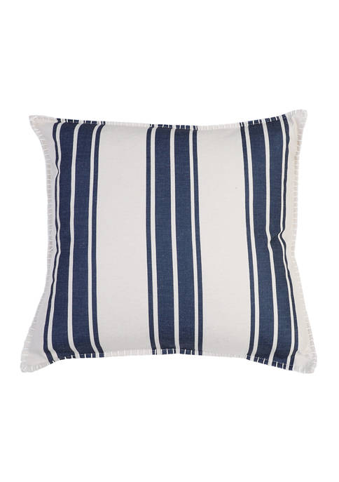 Wide Stripe Linen Pillow