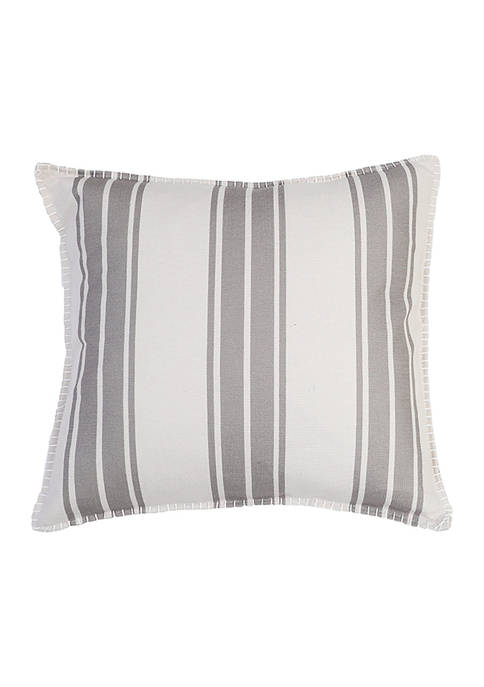 Wide Stripe Linen Pillow