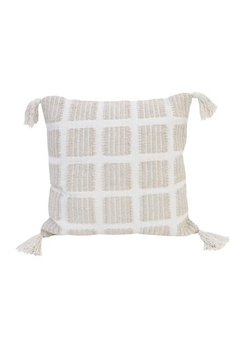 Thro by Marlo Lorenz Anna Woven Cotton Pillow