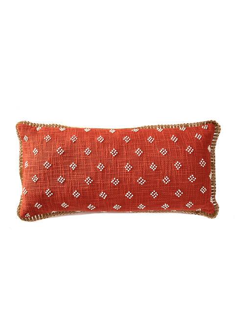 12 in x 26 in Beaded Jute Pillow