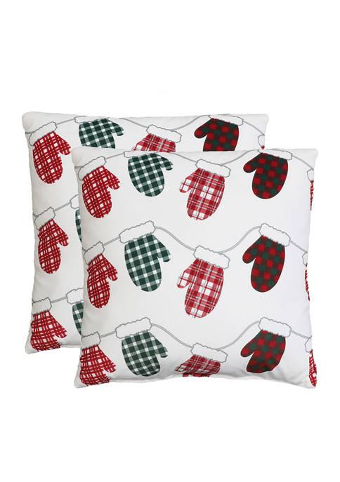 Thro by Marlo Lorenz 2 Pack Mitten Pillows