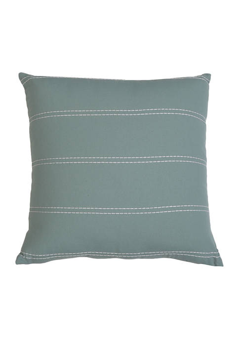 18 in x 18 in Striped Pillow