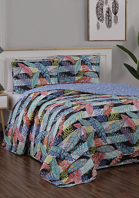 Bali House Bellamy 3 Piece Quilt Set