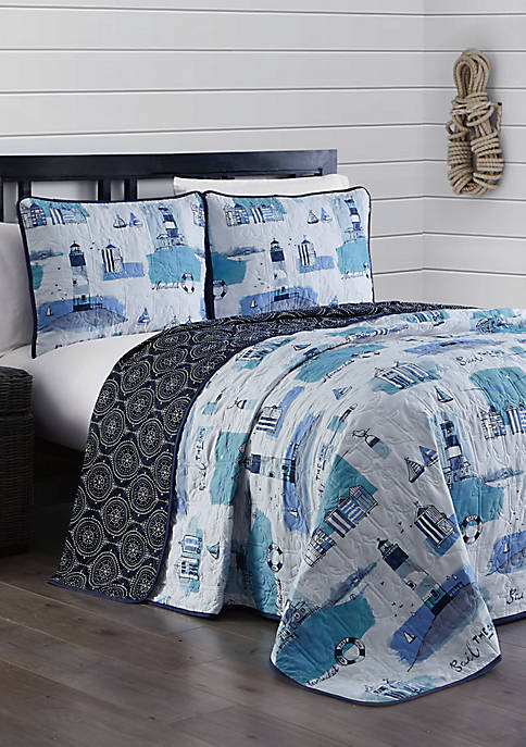 Stone Harbor 3 Piece Quilt Set