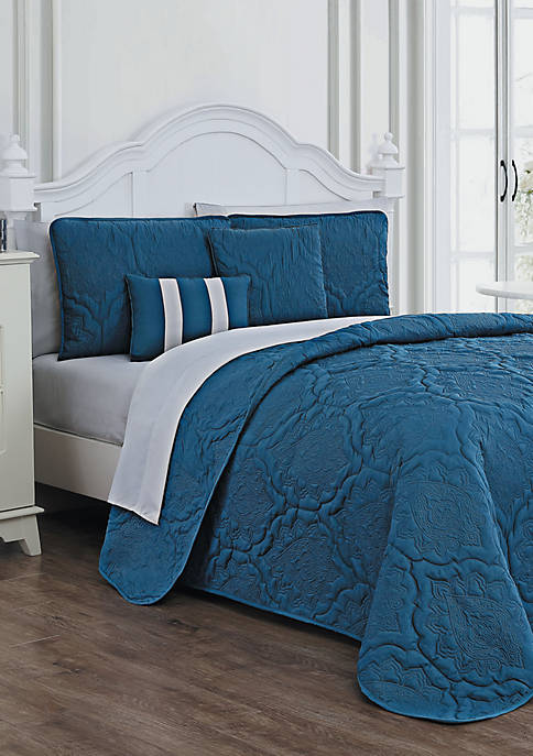 Avondale Manor Nolie Embossed 9 Piece Quilt Set