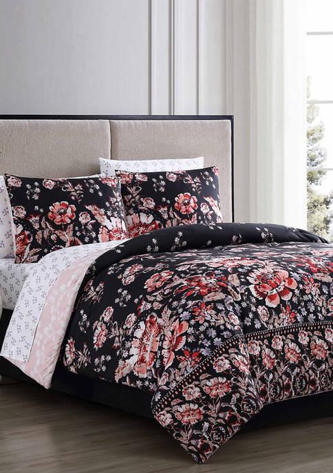 Geneva Home Fashion Leni Floral Comforter Set