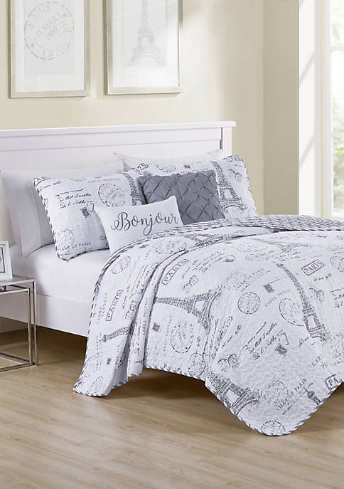 Paris Night Quilt Set