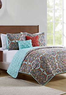 VCNY Home Yara Pinsonic Quilt Set
