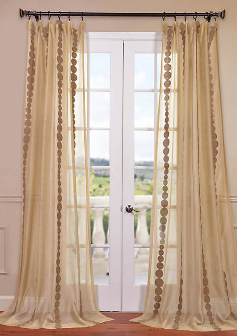 Cleopatra Embroidered Sheer Curtain