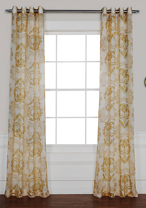 Exclusive Fabrics & Furnishings Damascus Grommet Printed Sheer