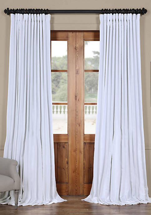 Blackout Extra Wide Vintage Textured Faux Dupioni Curtain