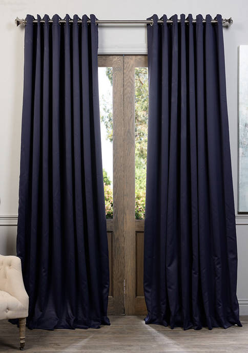 Exclusive Fabrics & Furnishings Grommet Extra Wide Blackout
