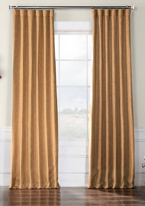 Exclusive Fabrics & Furnishings Faux Linen Blackout Curtains