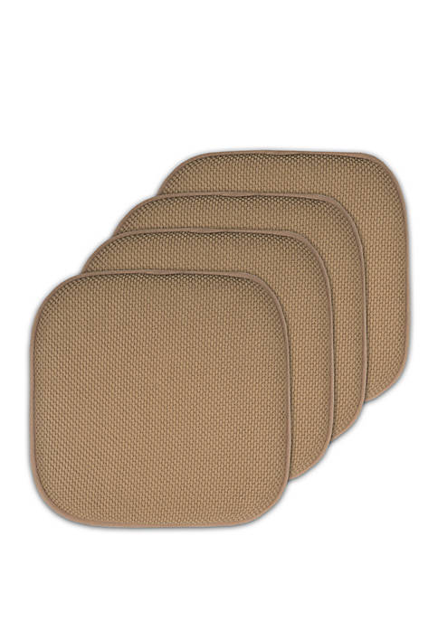 4 Pack Memory Foam Honeycomb Nonslip Back 16 in x 16 in Chair/Seat Cushion Pad