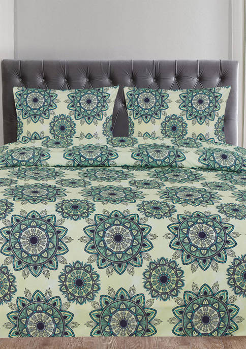 Sweet Home Collection Ashley Mandala Pattern 3 Piece
