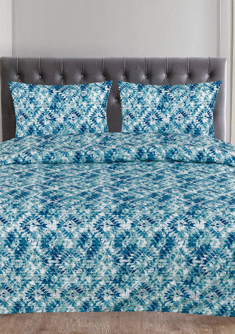 Sweet Home Collection Aqualina Geometric Pattern 3 Piece
