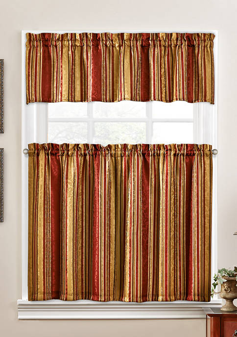 Stripe Ensemble Tier and Valance Set