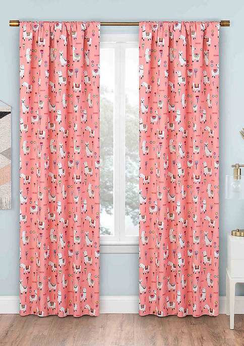 Llama Drama Blackout Window Curtain