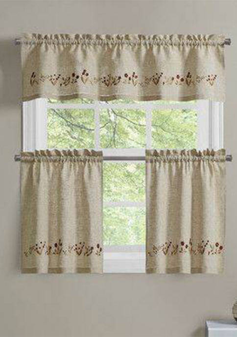 Lily of the Valley Light Filtering Window Curtain Tier Pair