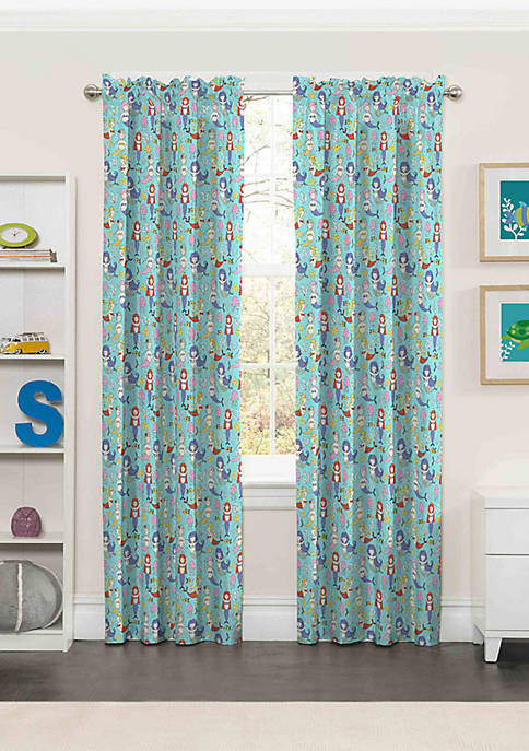 Eclipse™ Kids Magical Mermaids Blackout Window Curtain