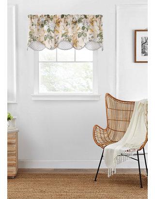Garden Blush Jacqueline Valance, Waverly Garden Room Curtains