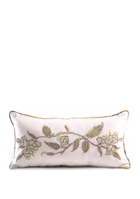 9 in x 18 in Lyrical Embroidered Pillow