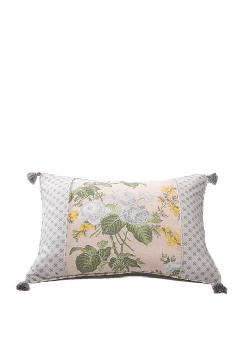 20 in x 4 in Blush Emmas Garden Match Pillow