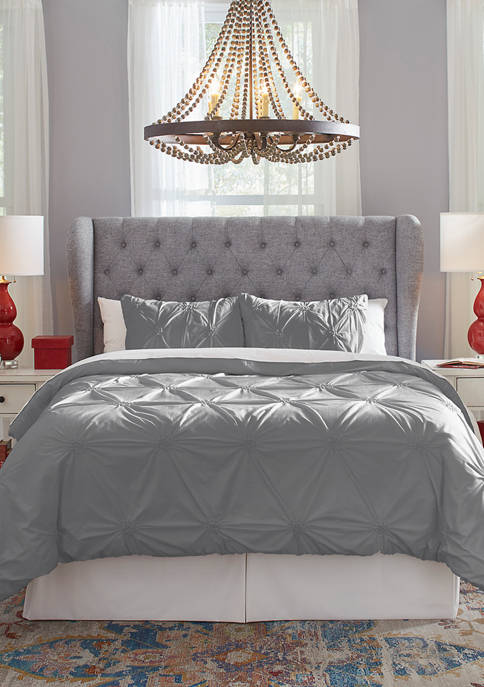 Pointehaven 200 Thread Count 2-Piece Knotted Pintuck Duvet