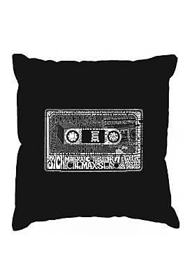 Throw Pillow Cover - Word Art - The 80s