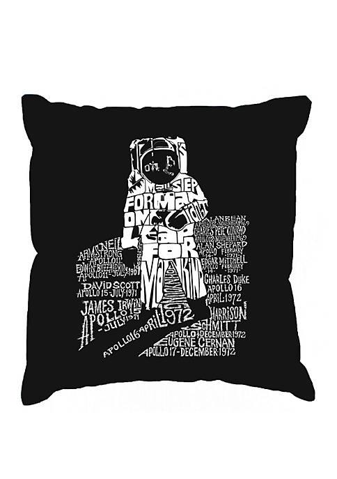 LA Pop Art Word Art Throw Pillow Cover-Astronaut