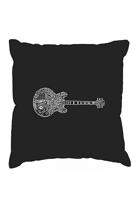 Word Art Throw Pillow Cover  - Blues Legends