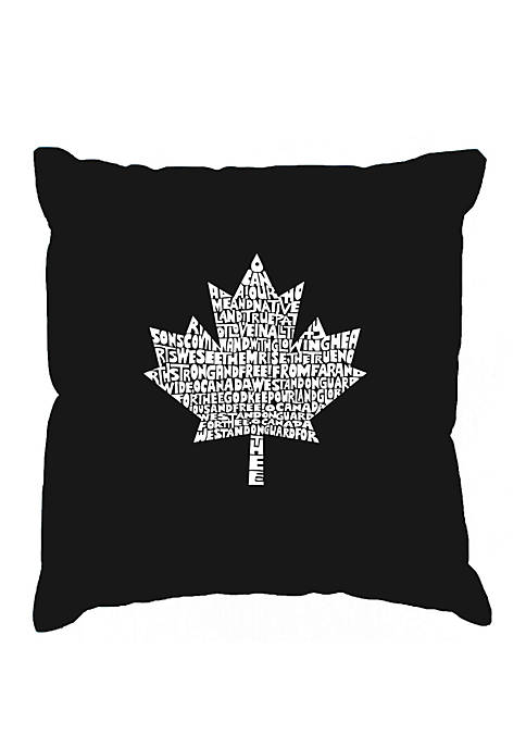 Word Art Throw Pillow Cover- Canadian National Anthem