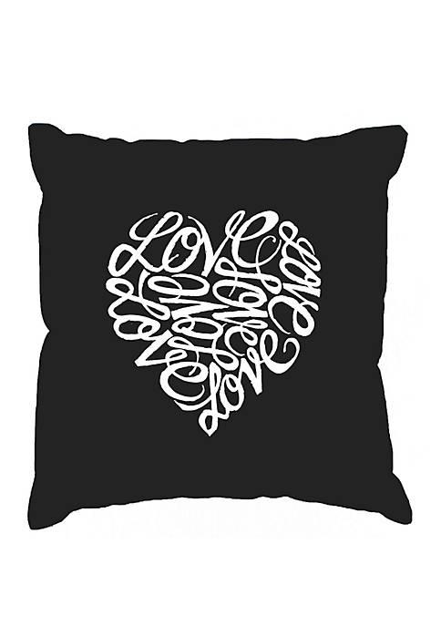 Throw Pillow Cover - Word Art - Love